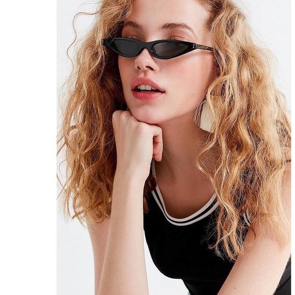2cb4d0b33e Accessories | Boutique Black Super Slim Cat Eye Sunglasses | Poshmark